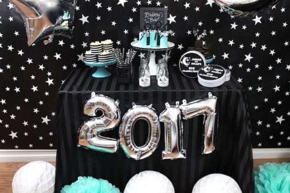 Kid-friendly NYE Pj Party | CatchMyParty.com