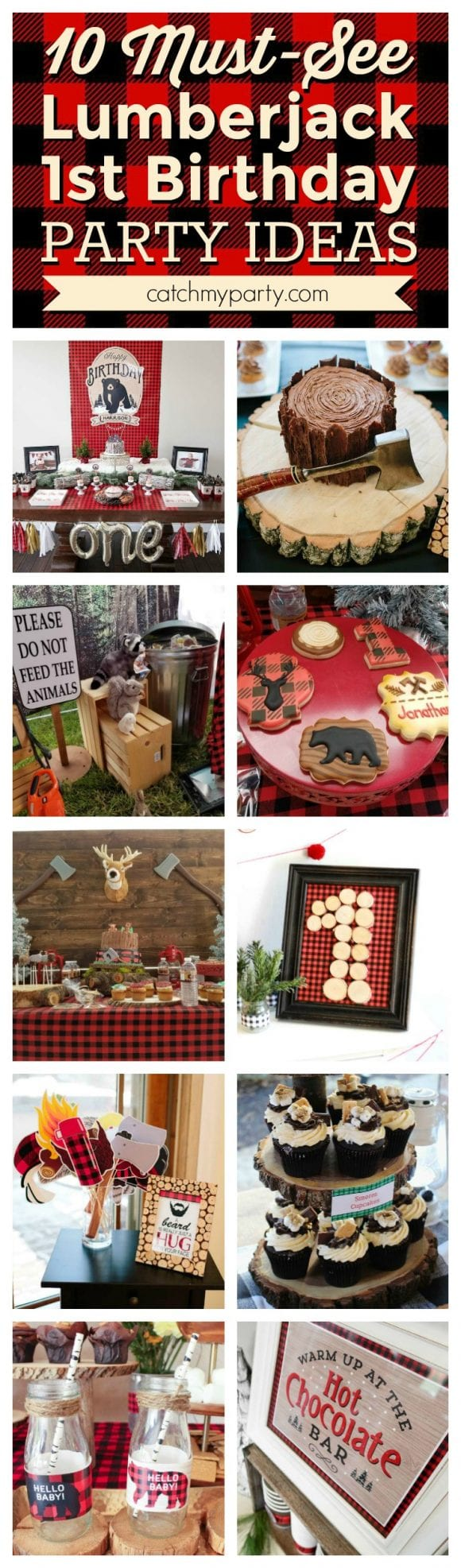 lumberjack 1st birthday party ideas | CatchMyparty.com