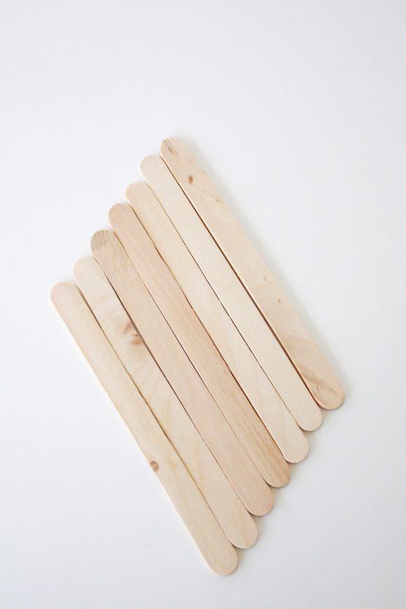7 Glued Popsicle Sticks | CatchMyParty.com