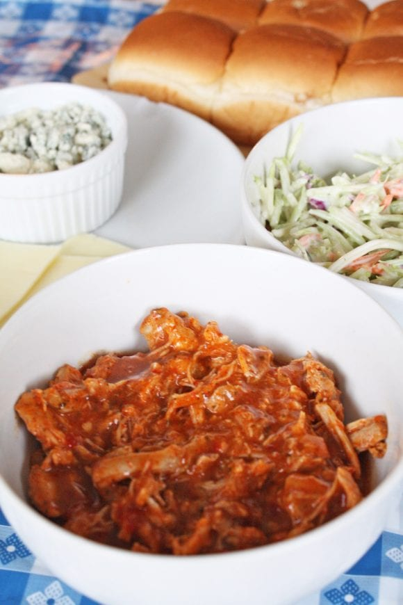 Chicken mixed with Buffalo Sauce | CatchMyParty.com