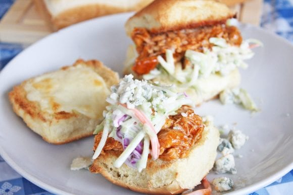 Tasty Spicy Buffalo Chicken Sliders | CatchMyParty.com