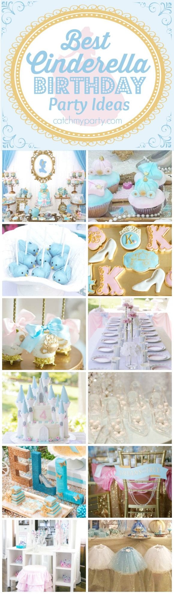 Best Cinderella Birthday Party Ideas | CatchMyparty.com
