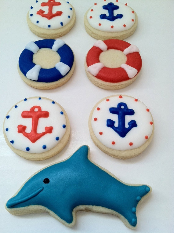 Nautical cookies | CatchMyParty.com