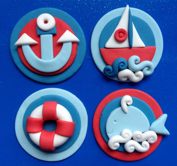 Nautical edible toppers | CatchMyParty.com