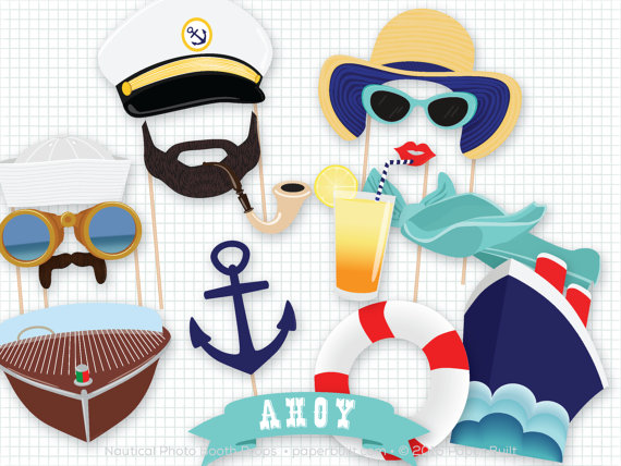 Nautical photo booth props | CatchMyParty.com