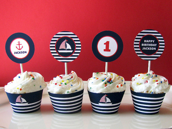 Nautical party printables | CatchMyParty.com