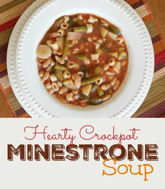 Hearty Crockpot Minestrone Soup Recipe | CatchMyParty.com