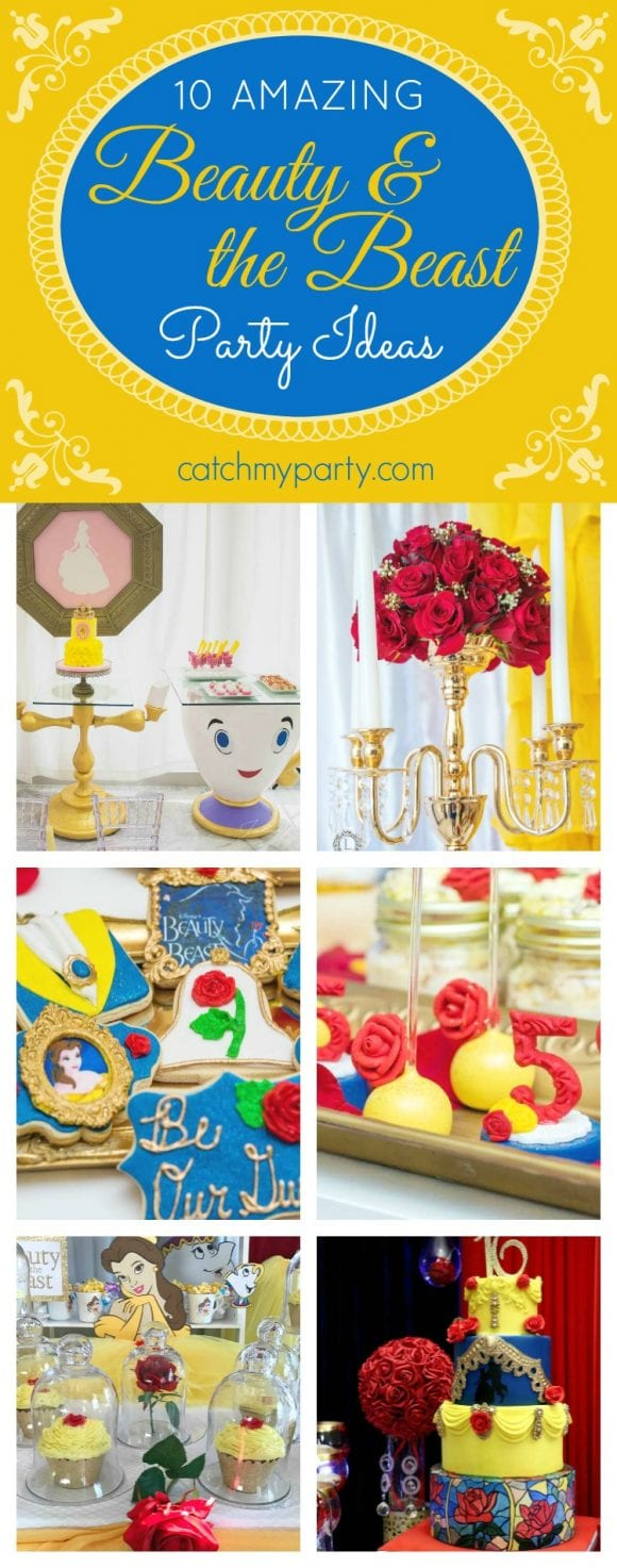 amazing Beauty and the Beast Party Ideas | CatchMyparty.com