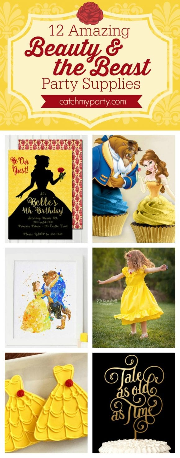12 Amazing Beauty and the Beast Party Supplies | CatchMyParty.com