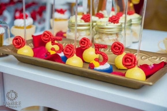 Beauty and the Beast Cake Pops | CatchMyParty.com