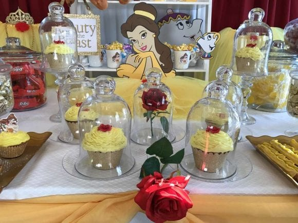 Beauty and the Beast Cupcakes | CatchMyParty.com