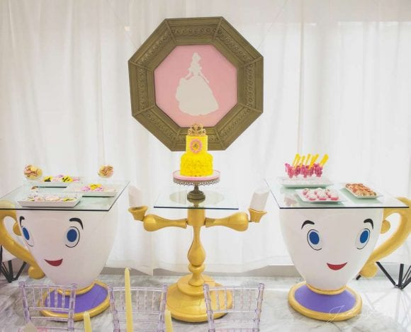 Beauty and the Beast Dessert table | CatchMyParty.com