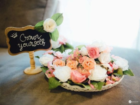 Floral baby shower | CatchMyParty.com