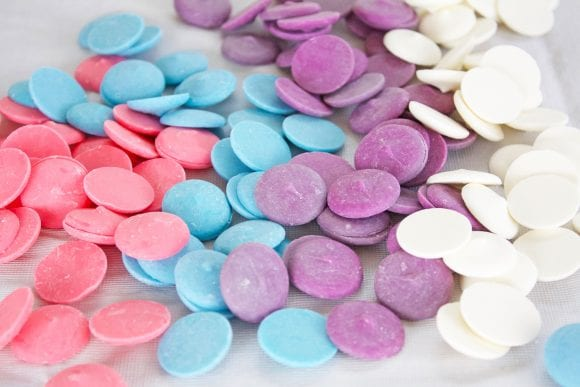 Pink, Blue, Purple, annd White Candy Melts | CatchMyParty.com