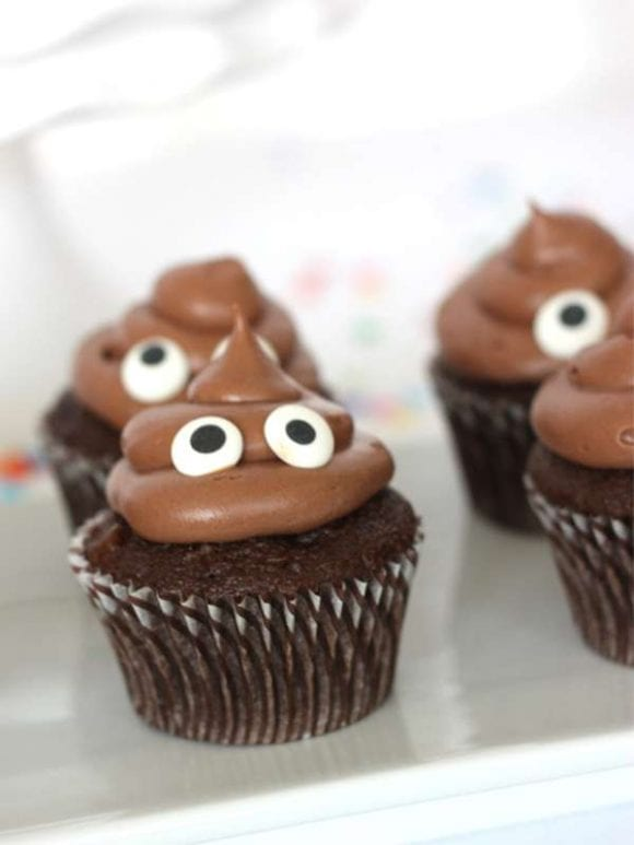 Pile of Poo Emoji Cupcakes | CatchMyParty.com