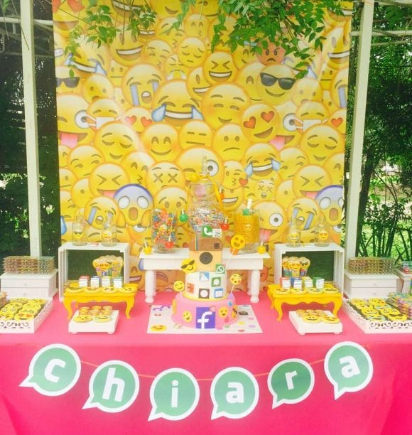 Emoji Dessert table | CatchMyParty.com
