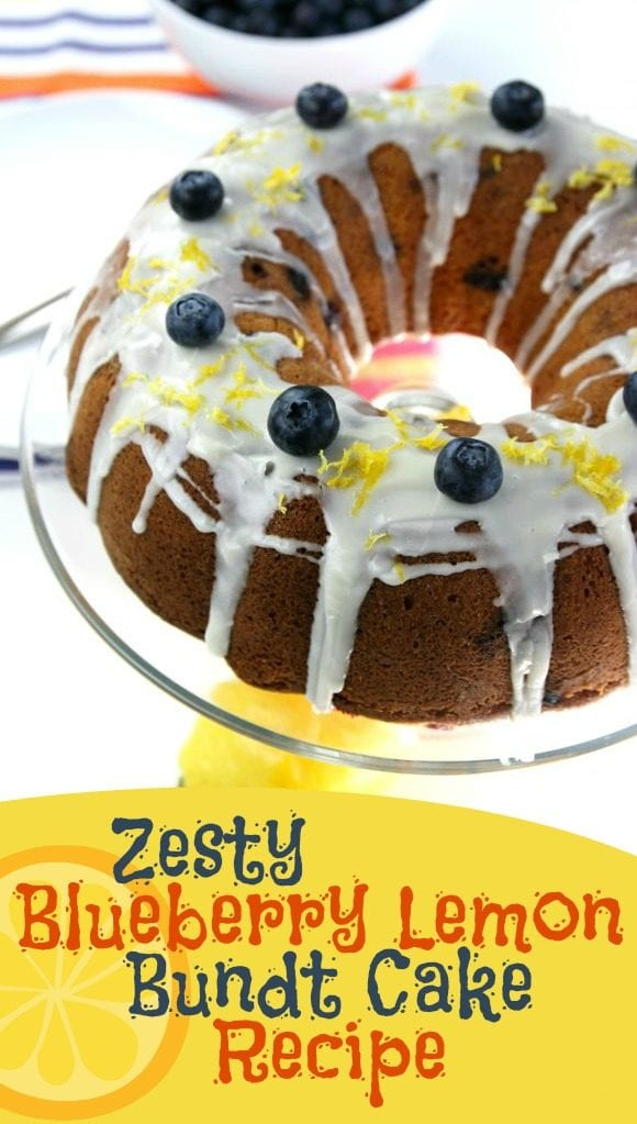 Zesty Blueberry Lemon Bundt Cake Recipe | CatchMyParty.com