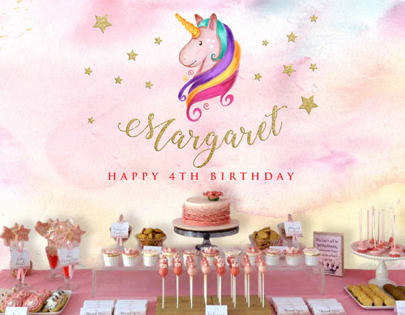 Unicorn Backdrop | CatchMyParty.com