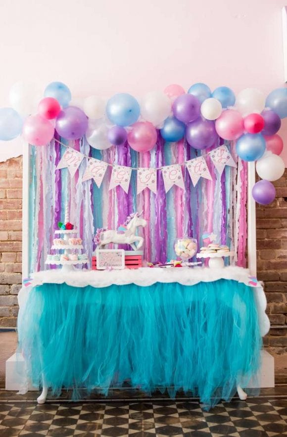 Unicorn dessert table | CatchMyParty.com