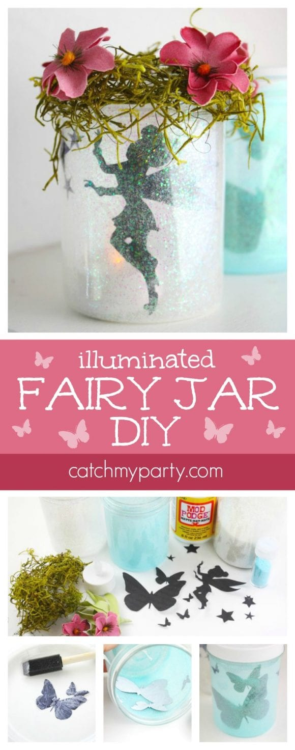 Illuminated Fairy Jar DIY | CatchMyParty.com