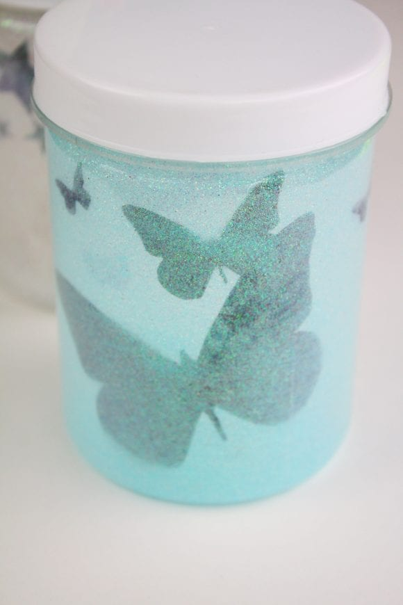 Silhouettes Glued on the Jar Perfectly | CatchMyParty.com