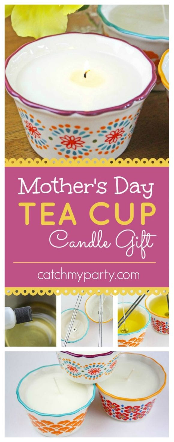 Tea Cup Candle Gift DIY | CatchMyParty.com