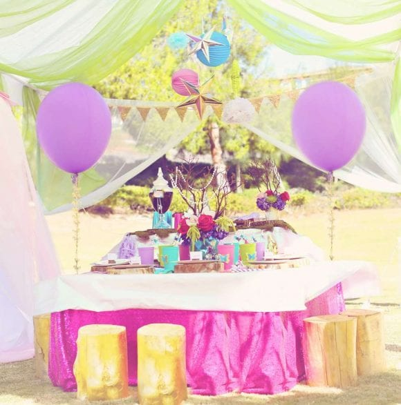 Unicorn table settings | CatchMyParty.com