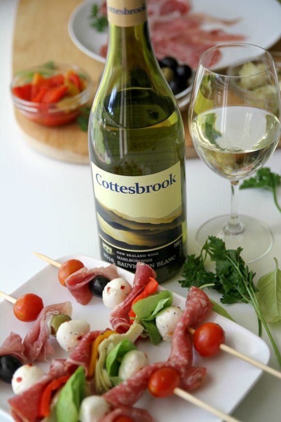 Antipasto Skewers and Summer Wine | Catchmyparty.com