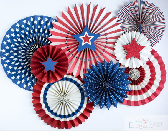 July 4th Pinwheel Backdrop | CatchMyParty.com