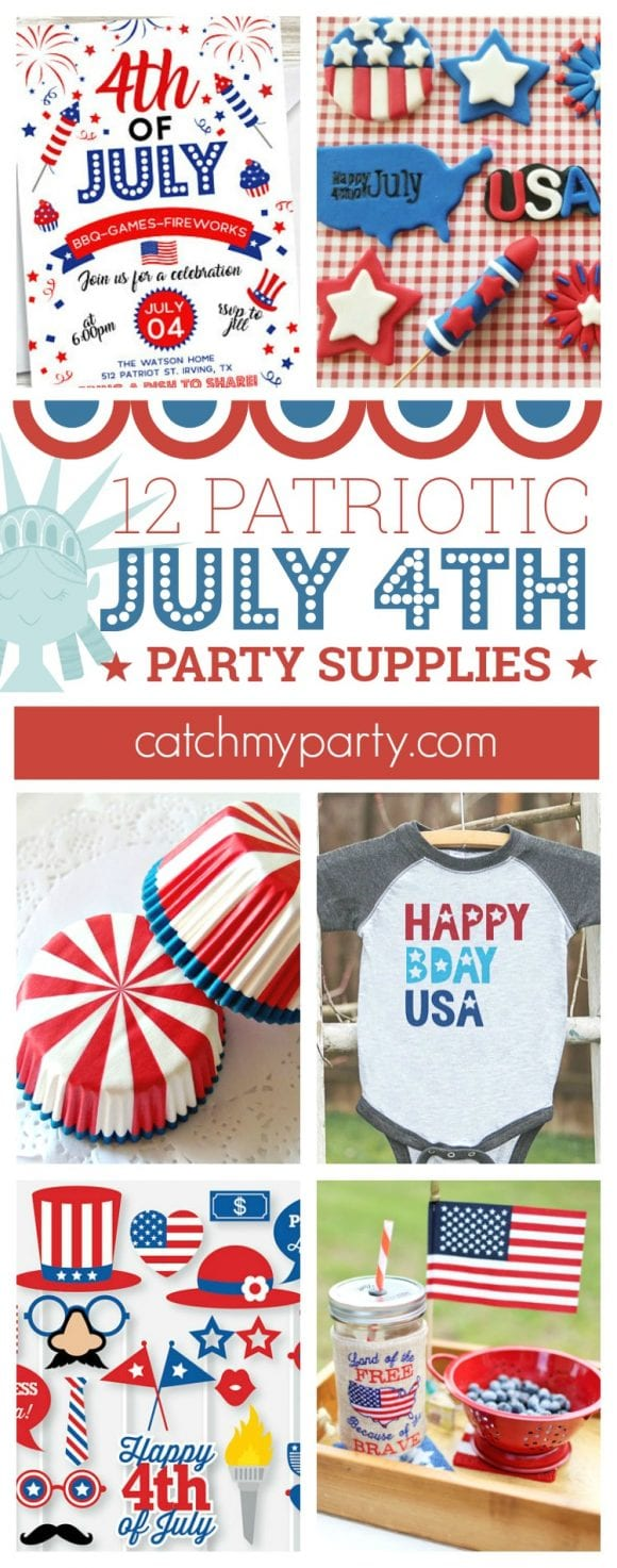 Patriotic July 4th Party Supplies | CatchMyparty.com