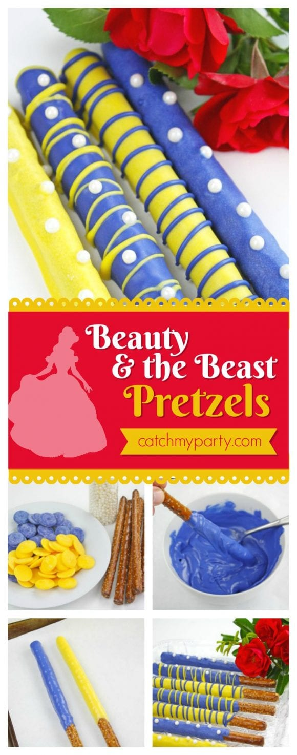 Beauty and the Beat Pretzels | CatchMyParty.com
