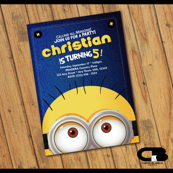 Minions party Invitation | CatchMyParty.com