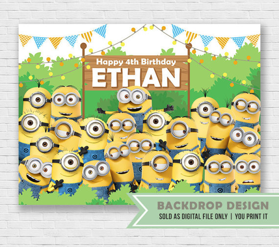 Minions Backdrop | CatchMyParty.com