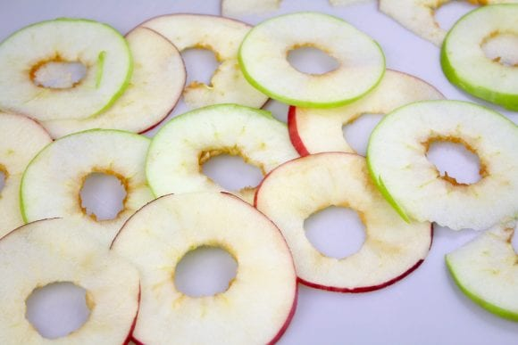 Slice the apple using mandoline slicer if available | CatchMyParty.com