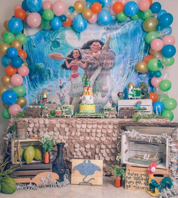 Emmie's Moana Birthday Celebration | CatchMyParty.com