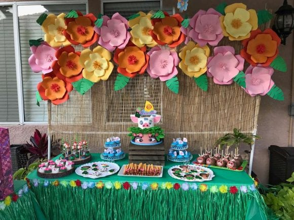 Moana 4th birthday party | CatchMyParty.com