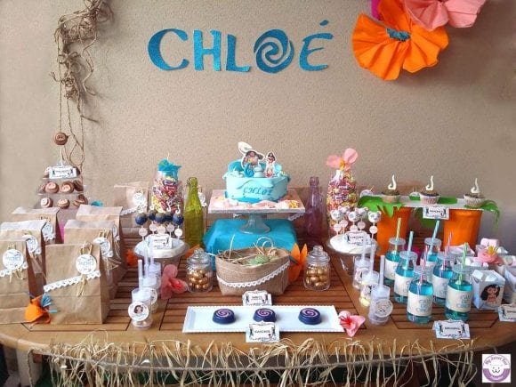 Chloé's Moana 6th Birthday party | CatchMyParty.com
