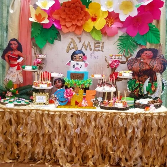 Moana 1st Birthday Party | CatchMyParty.com
