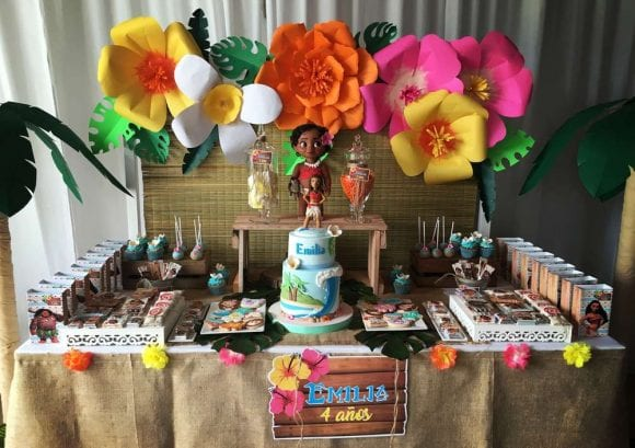 Emilia's Moana 4th Birthday Party | CatchMyParty.com
