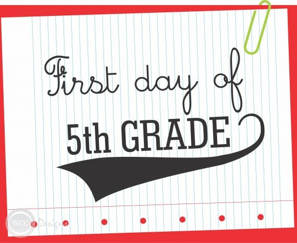 1st Day of School Printable Sign | CatchMyParty.com