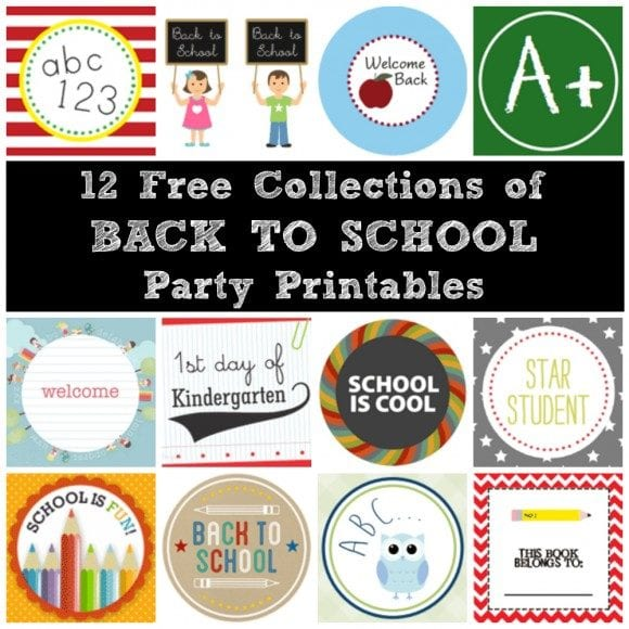 Free Back To School Party Printables | CatchMyParty.com
