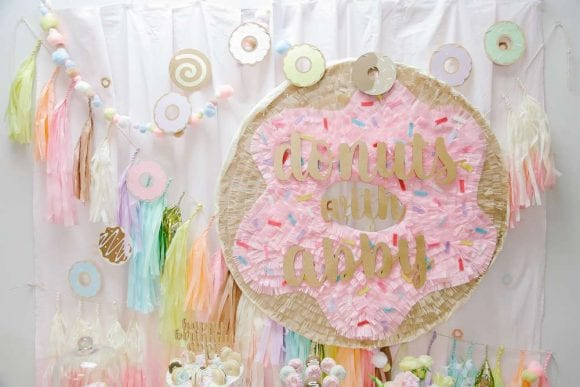 Donuts Backdrop | CatchMyParty.com