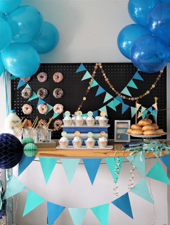 Donuts dessert table | CatchMyParty.com