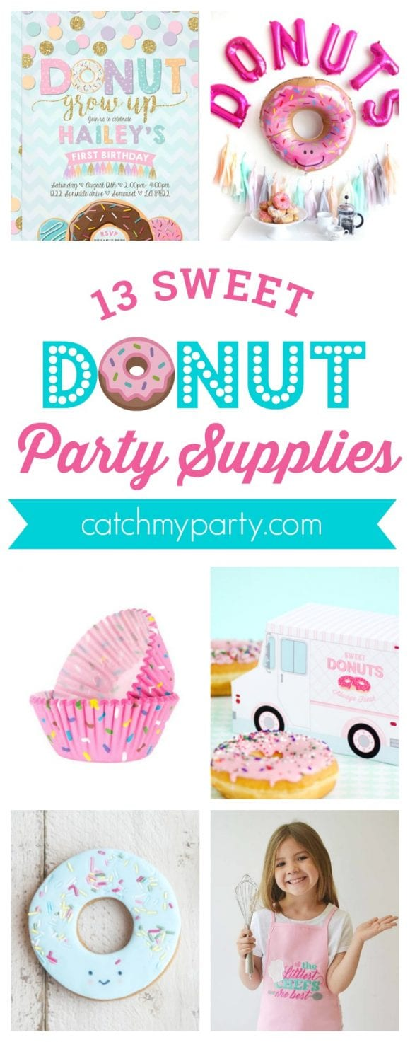 13 Must-See Donut Party Supplies | CatchMyParty.com
