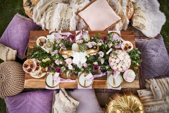 Boho Luxe & Lavender Styled Shoot I CatchMyParty.com