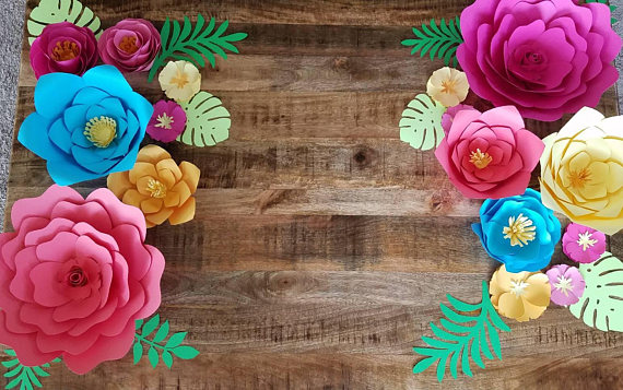 Paper Flower Wall Decorations | CatchMyParty.com