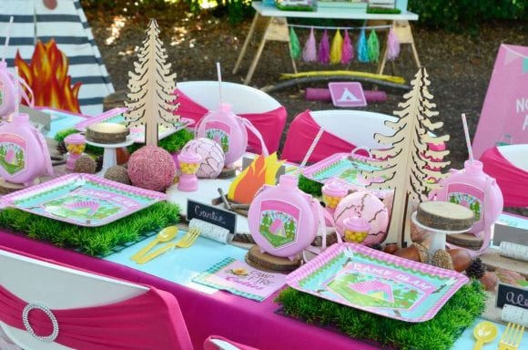 Girly Glam Camp Out Party I CatchMyParty.com