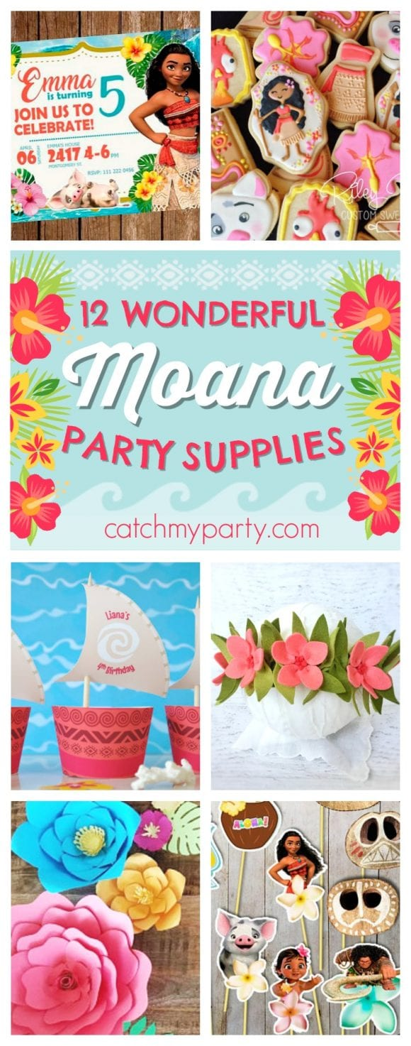12 Wonderful Moana Party Supplies | CatchMyParty.com