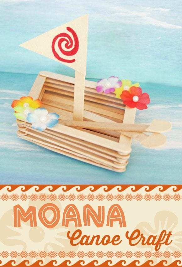 Moana Canoe Craft| CatchMyParty.com