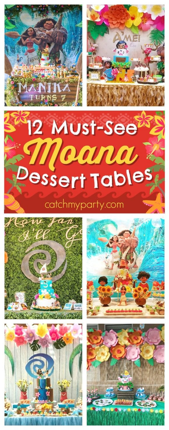 12 Must-See Moana Dessert Tables | CatchMyParty.com